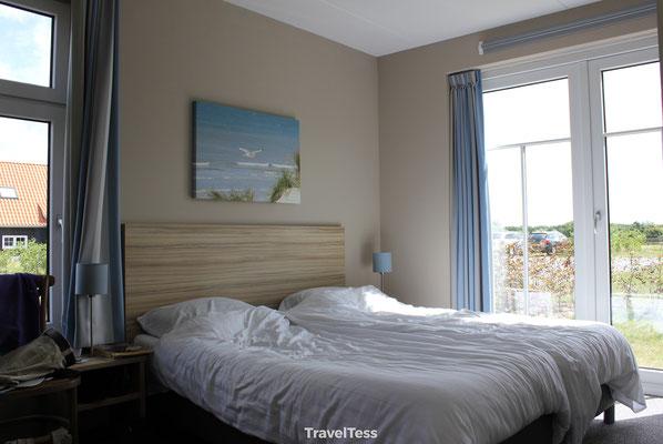 Slaapkamer in Landal park Nieuwvliet-Bad
