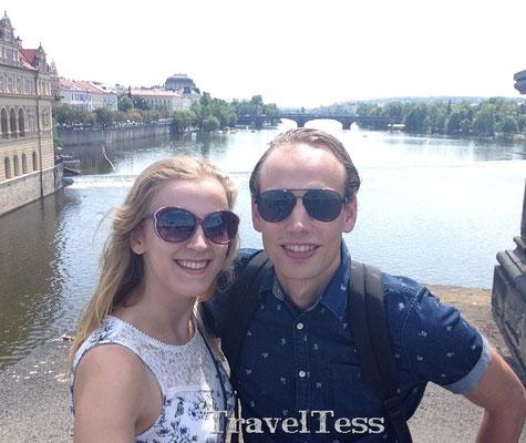 Op de Karelse Brug in Praag