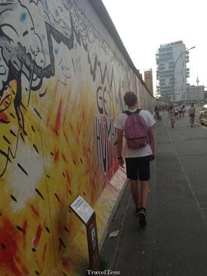 Wandeling langs East Side Gallery