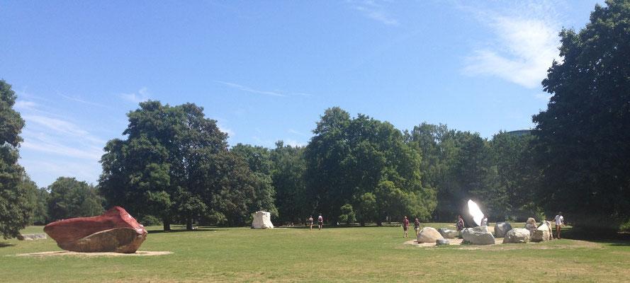 Tiergarten park met heilige Venezolaanse Steen