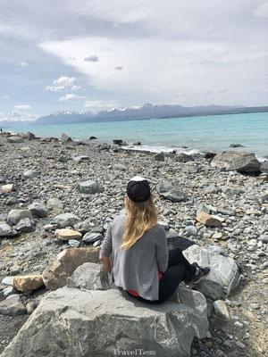 Blauwe meer van Lake Pukaki