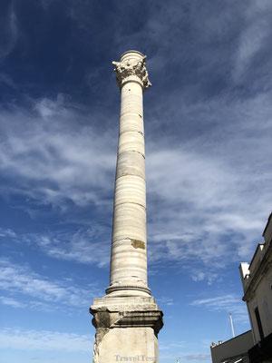 Romeinse Zuil markeert einde Via Appia in Brindisi