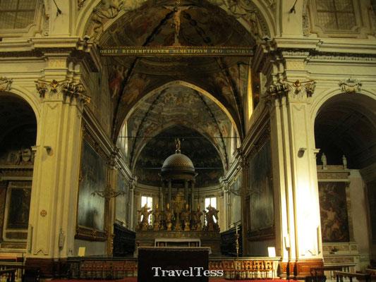 Interieur kerk Milaan
