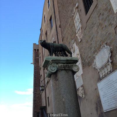 Standbeeld Remus en Romulus in Rome
