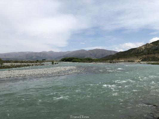 Hevige stroming Omarama rivier