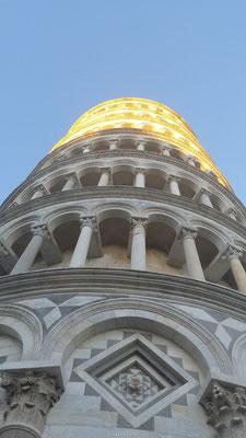 Toren van Pisa van onderen