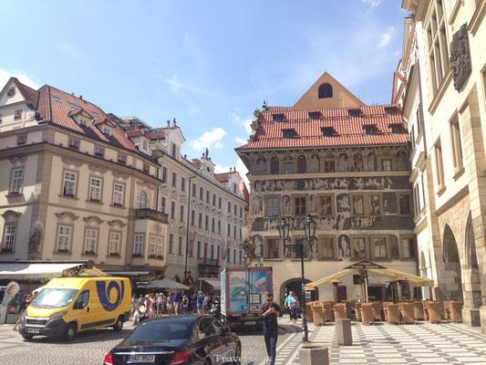 Oude gevel Praag
