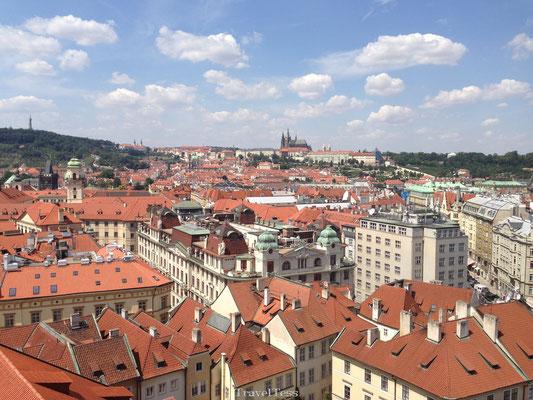 Uitzicht over Praag