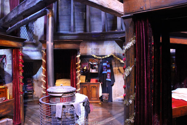 Leerlingenkamer Griffoendor Harry Potter Studio's