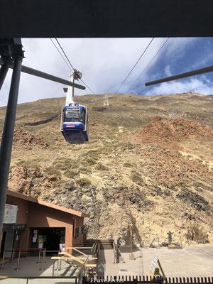 Ritje met de kabelbaan naar top El Teide