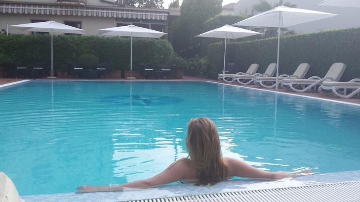 Zwembad bij het Gardameer
