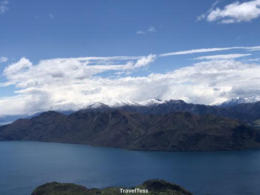 Besneeuwde bergen Lake Wanaka