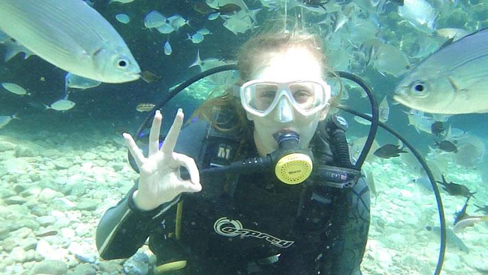 Duiken in de zee bij Marmaris