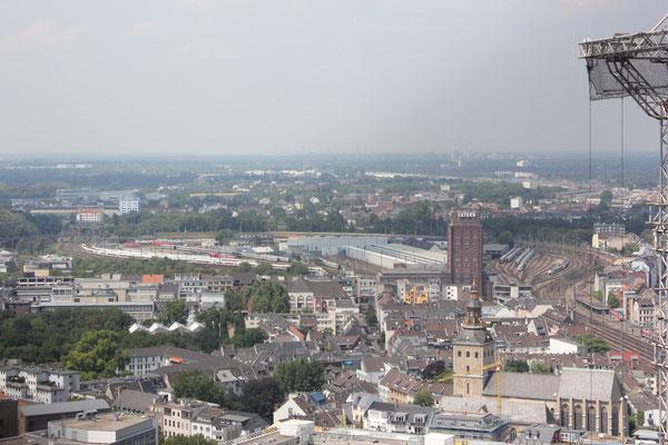 Uitzicht vanaf de Dom van Keulen