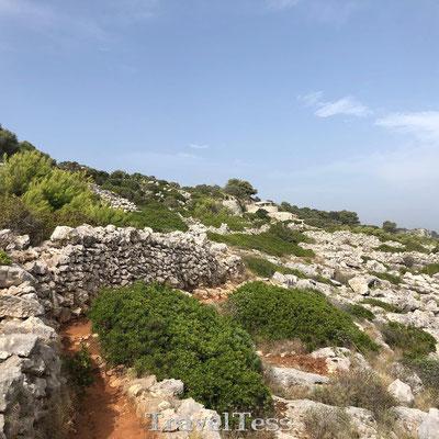 Wandelpad langs Ionische Kust