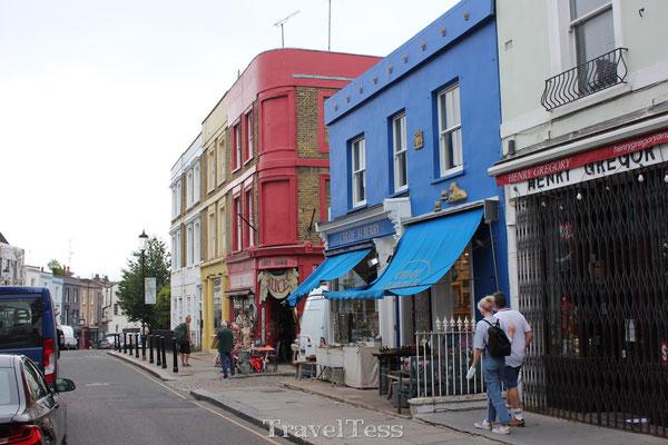 Gekleurde huisjes Nottinghill