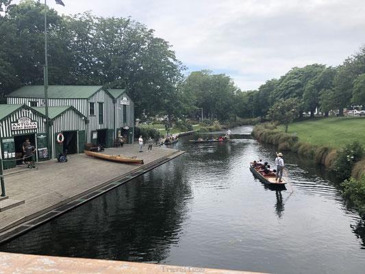 Bootje varen in Christchurch