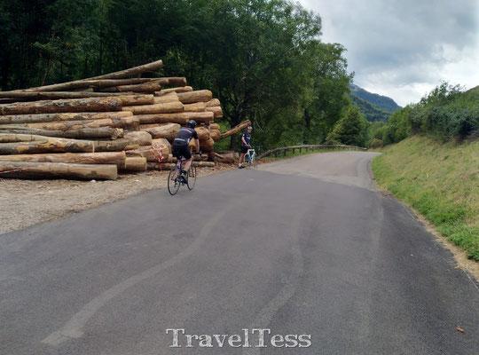 Wielrennen door de Franse Alpen