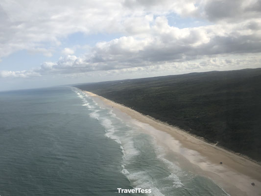 Fraser Island kustlijn