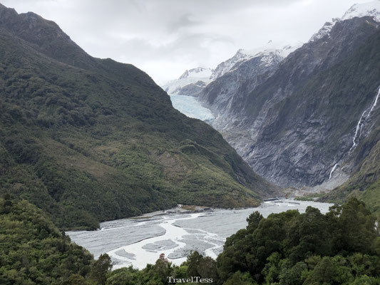 Volledig beeld Franz Josef Glacier