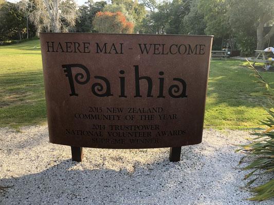 Paihia welkomstbord