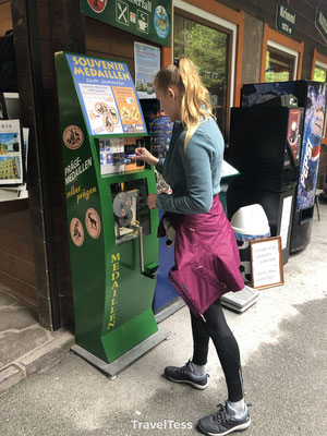 Penny coin machine Krimml waterval