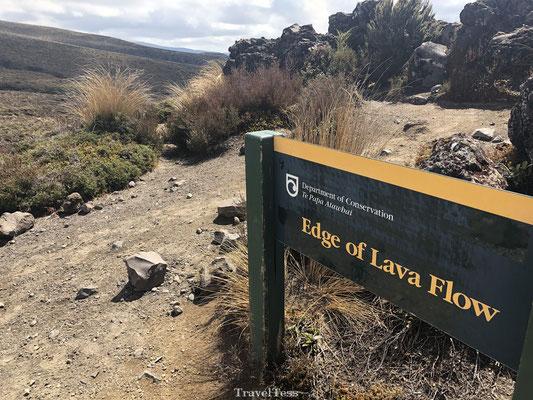 Edge of Lava Flow Tongariro National Park