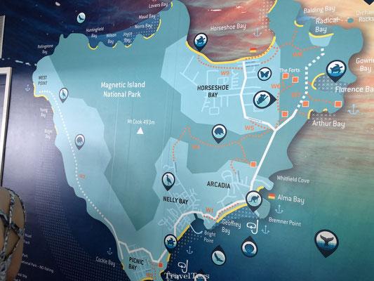 Plattegrond Magnetic Island