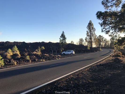 Parkeerplaats Chinyero vulkaan