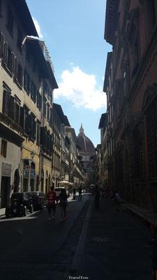 Nauwe straatjes van Florence
