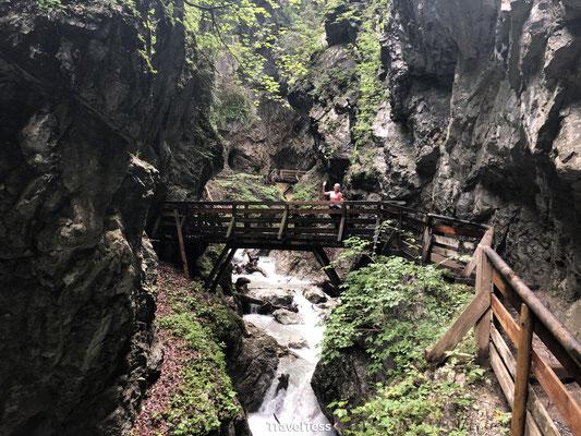 Hike door Wolfsklamm kloof