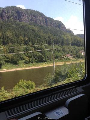 Met de trein naar Praag