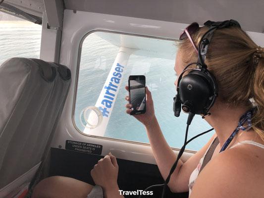 Vliegen over Fraser Island