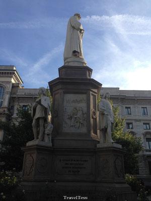 Standbeeld in Milaan