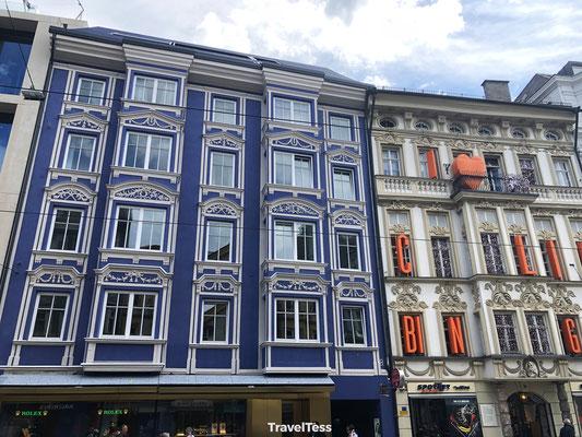 Gekleurde gevels Innsbruck