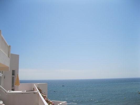 Uitzicht vanaf balkon Clube Praia da Oura