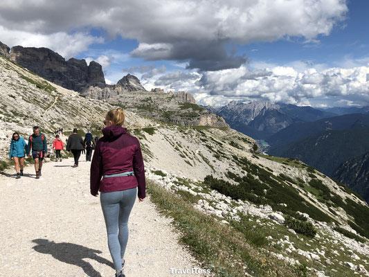 Start hike rondom Drei Zinnen