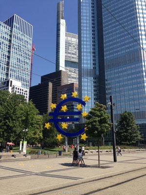 Eurosymbool Frankfurt
