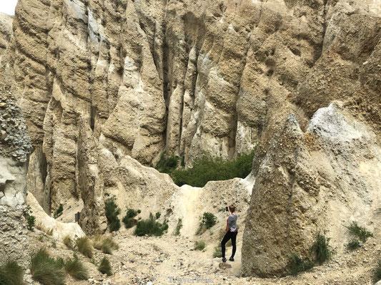 Indrukwekkende pinakels Clay Cliffs