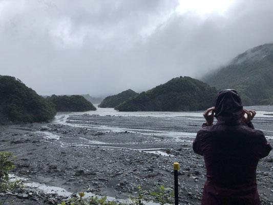 Slecht weer bij Franz Josef Glacier