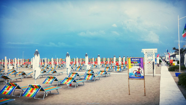 Massastrand in Rimini