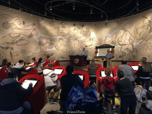 Tekenles in Walt Disney Studio's