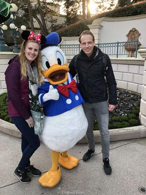 Op de foto met Donald Duck in Disneyland Parijs