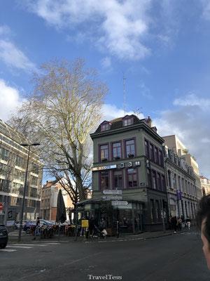 Groen huis in Lille
