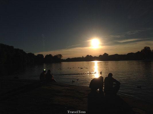 Zonsondergang Munster