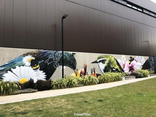 Muurschildering Christchurch