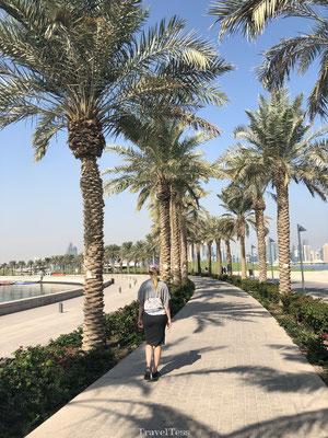 Wandelen door bloedheet Qatar