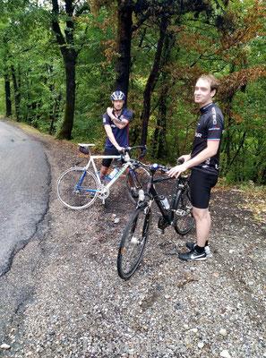 Valpartij tijdens fietsen