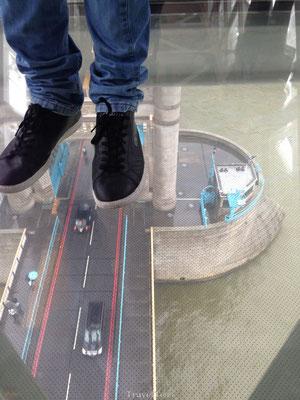 Glazen vloer Londen Tower Bridge