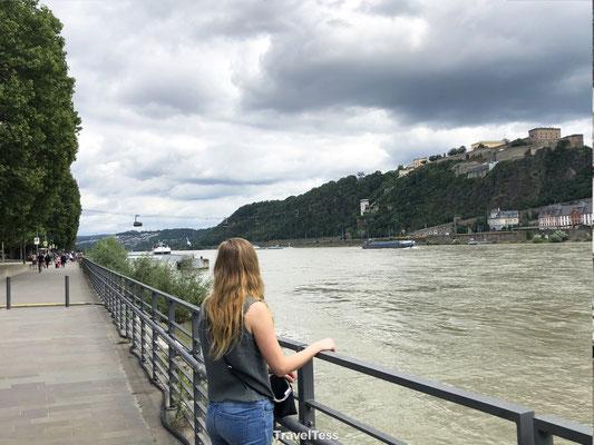 Uitzicht over de Rijn vanuit Koblenz